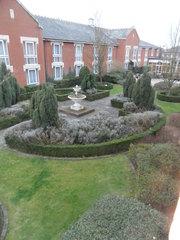 garden, hotel