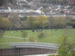 View over rugby pitch
