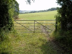 Metal gate to field