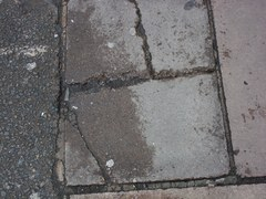 Uneven pavement1