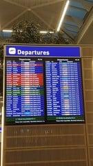 Airport departures board 1